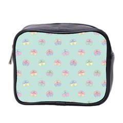 Butterfly Pastel Insect Green Mini Toiletries Bag 2-Side