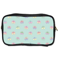 Butterfly Pastel Insect Green Toiletries Bags 2-Side