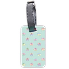 Butterfly Pastel Insect Green Luggage Tags (One Side)