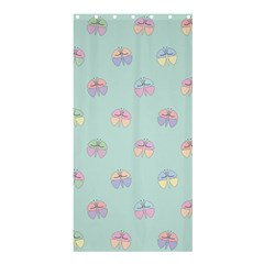 Butterfly Pastel Insect Green Shower Curtain 36  x 72  (Stall)