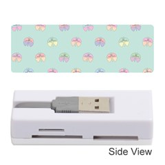Butterfly Pastel Insect Green Memory Card Reader (Stick)