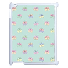 Butterfly Pastel Insect Green Apple iPad 2 Case (White)