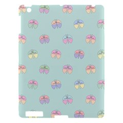 Butterfly Pastel Insect Green Apple iPad 3/4 Hardshell Case