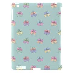 Butterfly Pastel Insect Green Apple iPad 3/4 Hardshell Case (Compatible with Smart Cover)