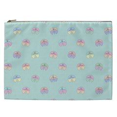 Butterfly Pastel Insect Green Cosmetic Bag (XXL)