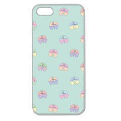 Butterfly Pastel Insect Green Apple Seamless iPhone 5 Case (Clear)