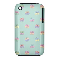 Butterfly Pastel Insect Green iPhone 3S/3GS