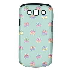 Butterfly Pastel Insect Green Samsung Galaxy S III Classic Hardshell Case (PC+Silicone)
