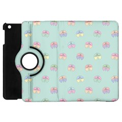 Butterfly Pastel Insect Green Apple iPad Mini Flip 360 Case