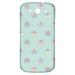 Butterfly Pastel Insect Green Samsung Galaxy S3 S III Classic Hardshell Back Case