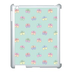 Butterfly Pastel Insect Green Apple iPad 3/4 Case (White)