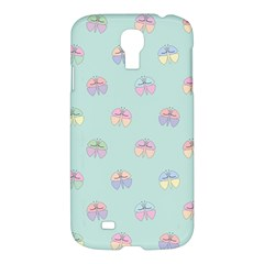 Butterfly Pastel Insect Green Samsung Galaxy S4 I9500/I9505 Hardshell Case