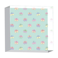 Butterfly Pastel Insect Green 5  x 5  Acrylic Photo Blocks