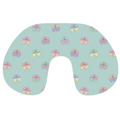 Butterfly Pastel Insect Green Travel Neck Pillows