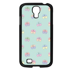 Butterfly Pastel Insect Green Samsung Galaxy S4 I9500/ I9505 Case (Black)