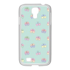 Butterfly Pastel Insect Green Samsung GALAXY S4 I9500/ I9505 Case (White)