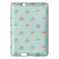 Butterfly Pastel Insect Green Kindle Fire HDX Hardshell Case