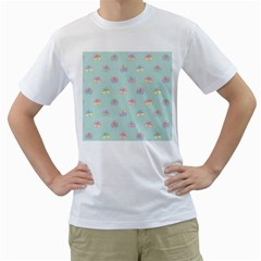 Butterfly Pastel Insect Green Men s T-Shirt (White)