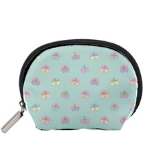 Butterfly Pastel Insect Green Accessory Pouches (Small)