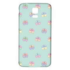 Butterfly Pastel Insect Green Samsung Galaxy S5 Back Case (White)