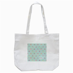 Butterfly Pastel Insect Green Tote Bag (White)