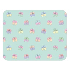 Butterfly Pastel Insect Green Double Sided Flano Blanket (Large)