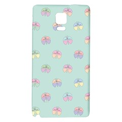 Butterfly Pastel Insect Green Galaxy Note 4 Back Case
