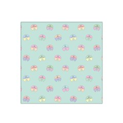 Butterfly Pastel Insect Green Satin Bandana Scarf