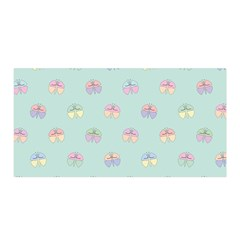 Butterfly Pastel Insect Green Satin Wrap