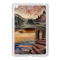 Japanese Lake Of Tranquility Apple iPad Mini Case (White)