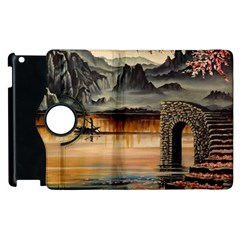 Japanese Lake Of Tranquility Apple iPad 3/4 Flip 360 Case