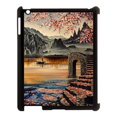 Japanese Lake Of Tranquility Apple iPad 3/4 Case (Black)