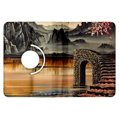Japanese Lake Of Tranquility Kindle Fire HDX Flip 360 Case