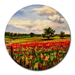 Poppies Round Mousepads