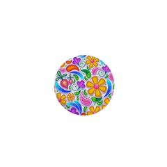 Floral Paisley Background Flower 1  Mini Magnets