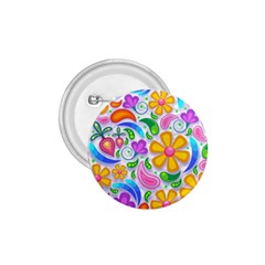 Floral Paisley Background Flower 1.75  Buttons
