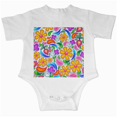 Floral Paisley Background Flower Infant Creepers
