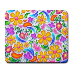 Floral Paisley Background Flower Large Mousepads