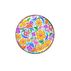 Floral Paisley Background Flower Hat Clip Ball Marker
