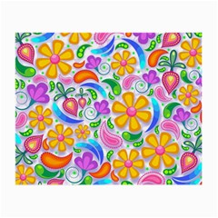 Floral Paisley Background Flower Small Glasses Cloth