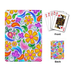 Floral Paisley Background Flower Playing Card