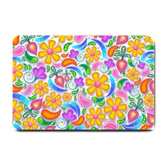 Floral Paisley Background Flower Small Doormat