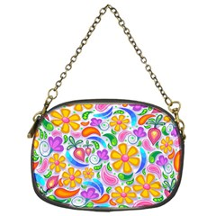Floral Paisley Background Flower Chain Purses (One Side)