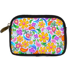 Floral Paisley Background Flower Digital Camera Cases