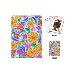 Floral Paisley Background Flower Playing Cards (Mini)