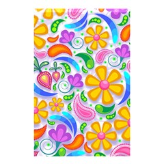 Floral Paisley Background Flower Shower Curtain 48  x 72  (Small)