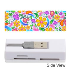 Floral Paisley Background Flower Memory Card Reader (Stick)
