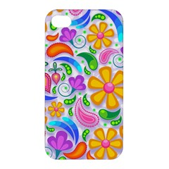 Floral Paisley Background Flower Apple iPhone 4/4S Hardshell Case