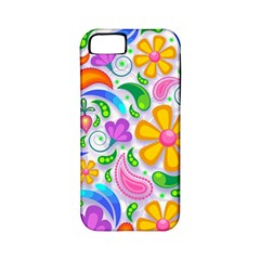 Floral Paisley Background Flower Apple iPhone 5 Classic Hardshell Case (PC+Silicone)