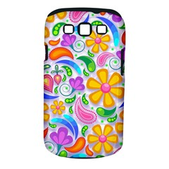 Floral Paisley Background Flower Samsung Galaxy S III Classic Hardshell Case (PC+Silicone)